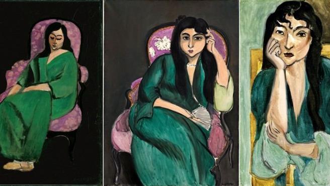 Tres retratos de Laurette realizados entre 1916 y 1917