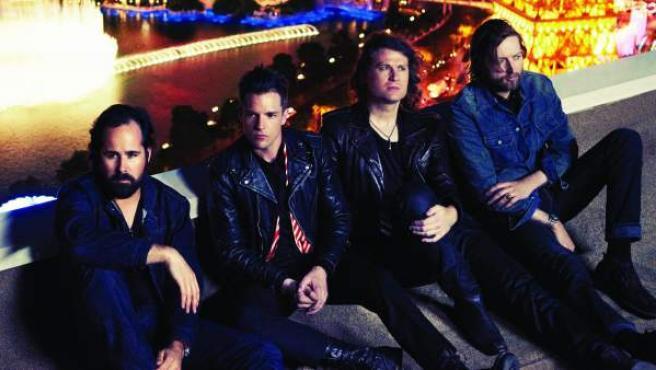 Los componentes del grupo estadounidense The Killers.