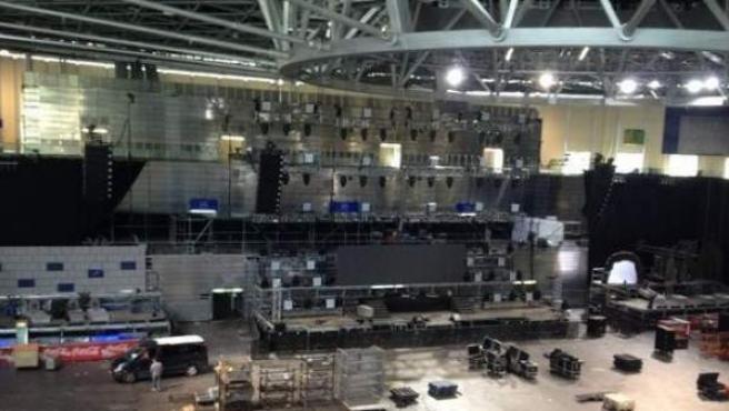 Los preparativos de la Thriller Music Park del Madrid Arena, en Facebook.