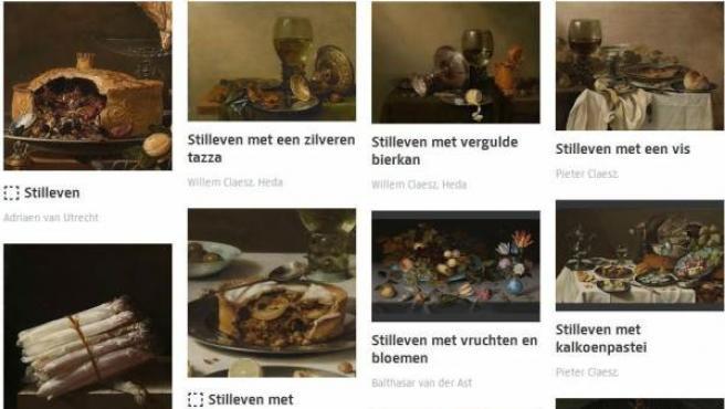 Set de un usuario, que ha recopilado obras de arte con la comida como tema