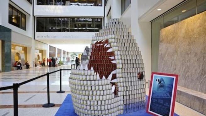 Galería: Esculturas cinéfilas con latas de comida