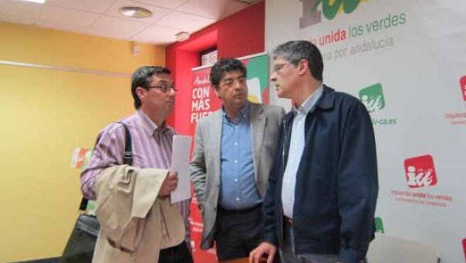 Centella, Valderas y Pérez Tapias, miembros de la dirección de IULV-CA
