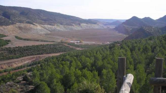 Mina de carbón de Estercuel.