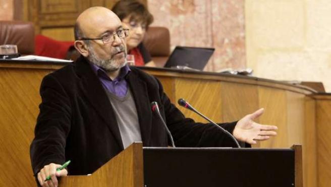 Ignacio García, De IU, Durante Un Debate Parlamentario