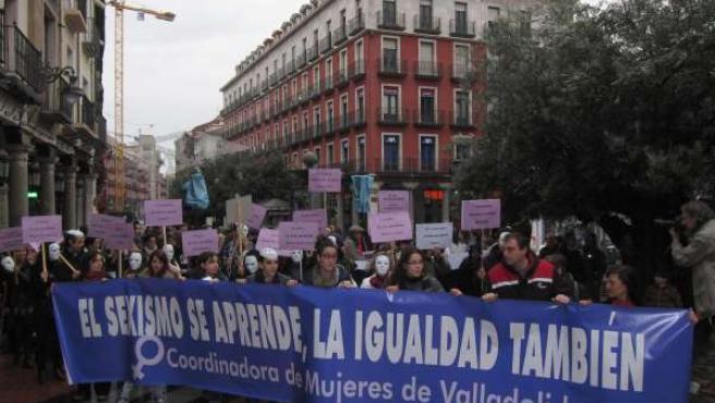 Manifestación contra la violencia de género en Valladolid