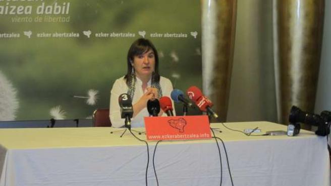 Maribi Ugarteburu, portavoz de la Izquierda Abertzale