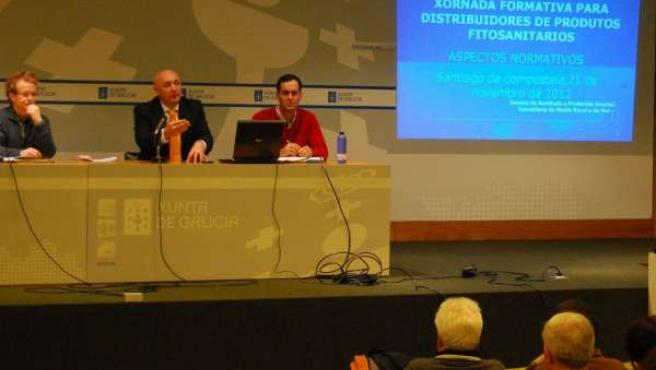 José Álvarez Robledo en una reunión del sector fitosanitario