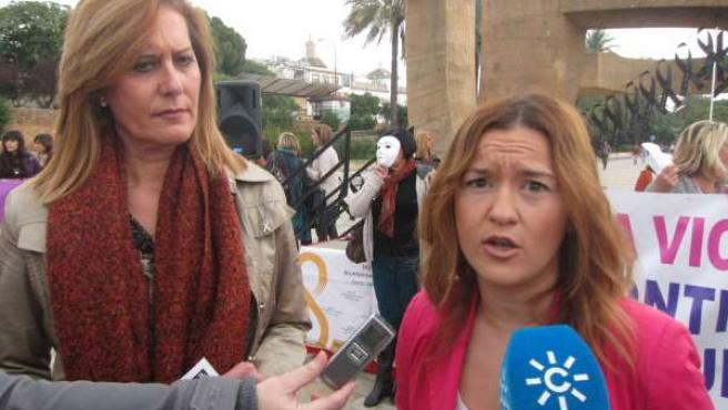 Rosario Andújar y Verónica Pérez