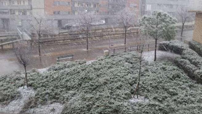 Nevada En Terrassa. Temporal De Frío Y Nieve.