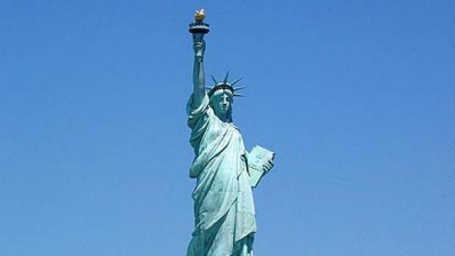 La Estatua de la Libertad de Nueva York.