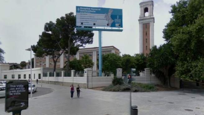 Imagen del Hospital General Universitario, en Valencia.