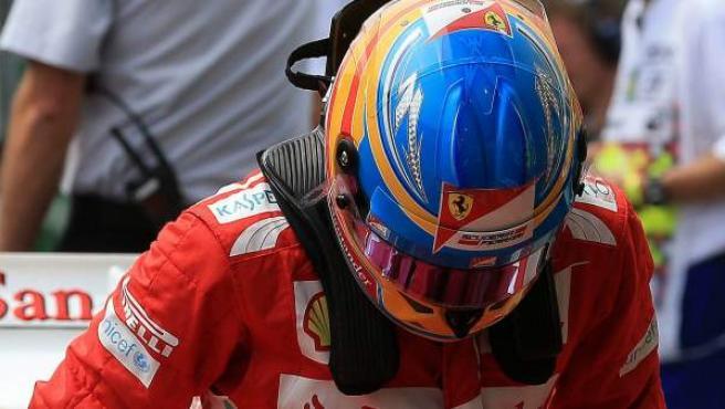 El piloto español de Ferrari, Fernando Alonso.