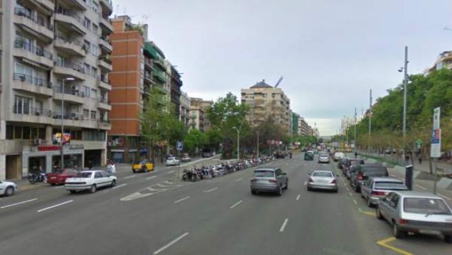 Bifurcación entre Avenida de Roma con Aragón, en Barcelona, donde ha ocurrido el accidente.
