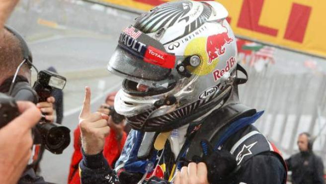 El piloto alemán de Red Bull, Sebastian Vettel.