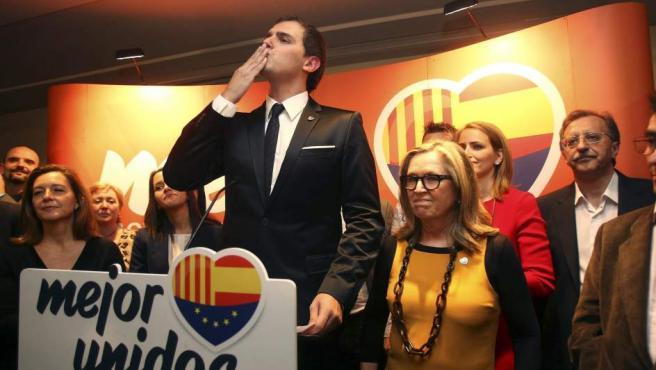 El líder de Ciutadans, Albert Rivera, tras conocerse los resultados de las elecciones 2012.