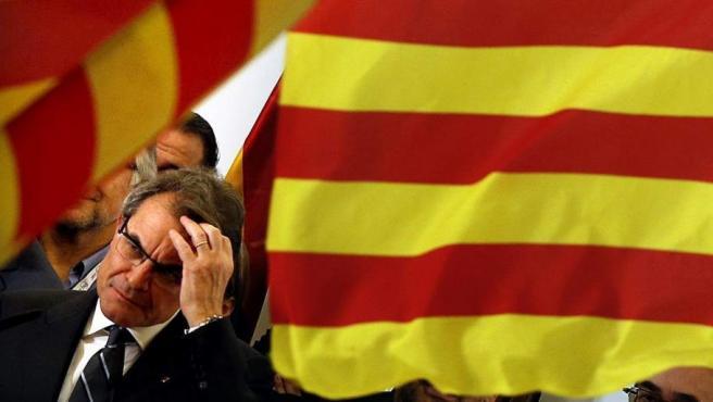 Artur Mas, tras la victoria en las elecciones catalanas 2012.