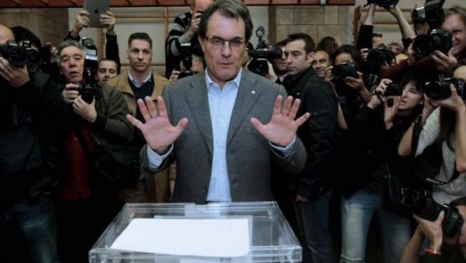 El candidato de CiU a la presidencia de la Generalitat, Artur Mas.