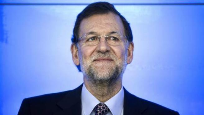 El presidente del Gobierno, Mariano Rajoy, al inicio del Comité Ejecutivo Nacional del partido el día después de las elecciones catalanas del 25-N.