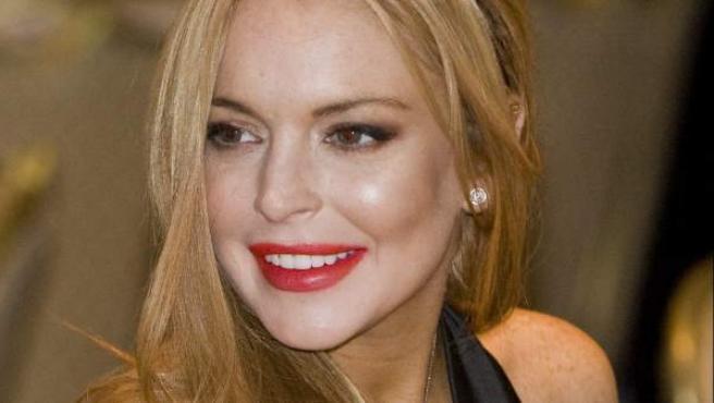 Lindsay Lohan durante la cena 2012 de la Asociación de Corresponsales de la Casa Blanca en Washington.