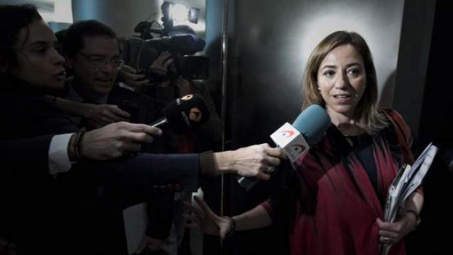 La diputada socialista Carme Chacón.