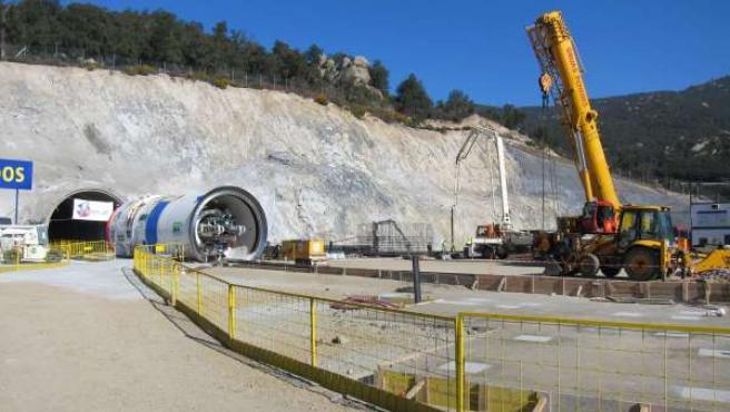Túnel De La Interconexión Eléctrica Entre España Y Francia En La Jonquera