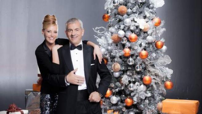 Paula Vázquez y Carlos Sobera, presentadores de las campanadas en Antena 3.