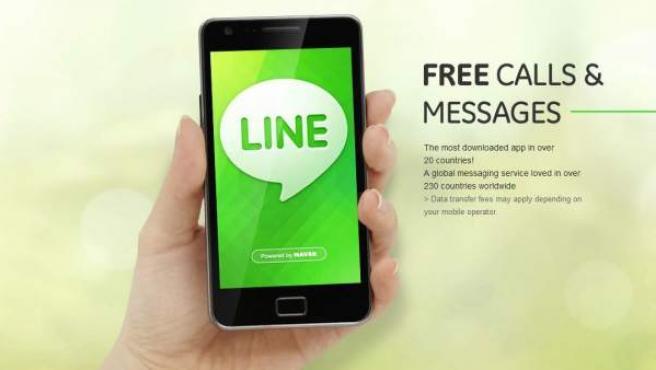 Web de la aplicación Line.