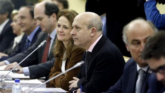 El ministro de Educación, José Ignacio Wert (c), y los consejeros autonómicos durante la Conferencia Sectorial de Educación.