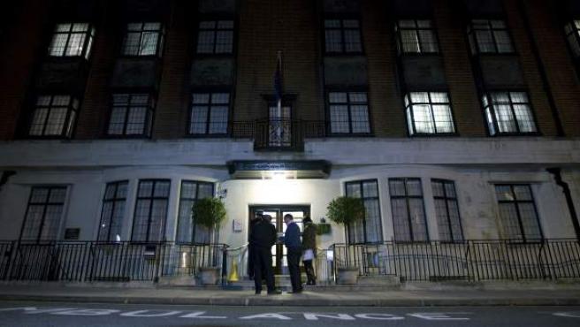 La entrada al Hospital Rey Eduardo VII.