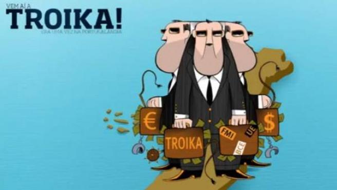 Imagen del juego de mesa portugués 'Ahí llega la troika'.
