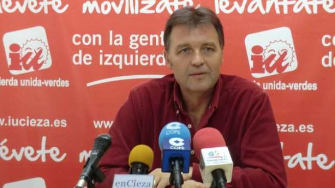 Francisco Saorín, coordinador de IU-Verdes en Cieza