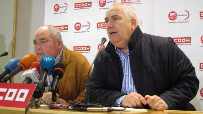 Manuel Pastrana y Francisco Carbonero, hoy en rueda de prensa.