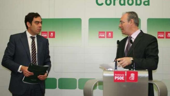 Amor y Durán en la sede del PSOE de Córdoba