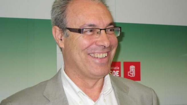 Durán en la sede del PSOE
