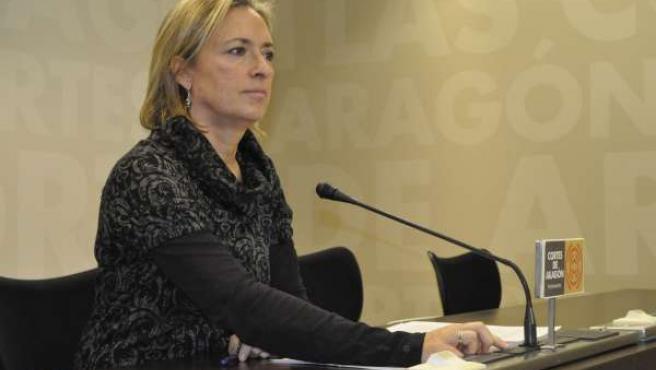 La portavoz de CHA en las Cortes, Nieves Ibeas