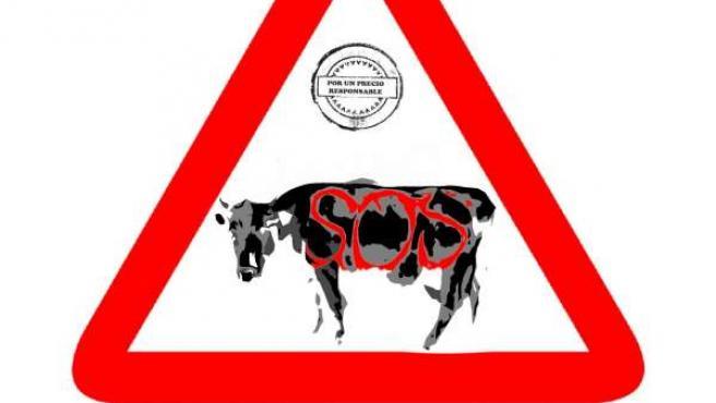 Logo de la campaña de movilización y concienciación del sector lácteo
