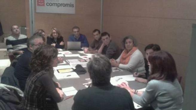 Reunión de Compromís con sindicatos de la educación