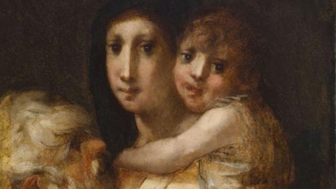'Sagrada Familia con joven San Juan Bautista' (1520), el cento de la exposición