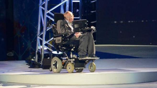 Stephen Hawking, en la ceremonia de apertura de los Juegos Paralímpicos de Londres 2012.