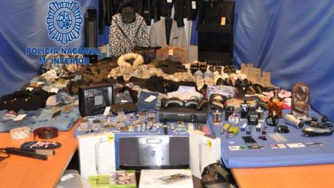 Objetos robados recuperados por la Policía Nacional