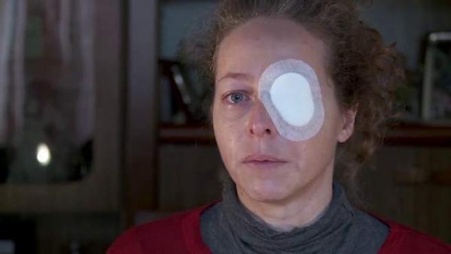 Ester Quintana perdió el ojo izquierdo durante una manifestación el día de la huelga general del 14-N en Barcelona.