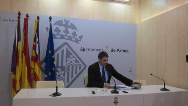 El portavoz del Ayuntamiento de Palma, Julio Martínez