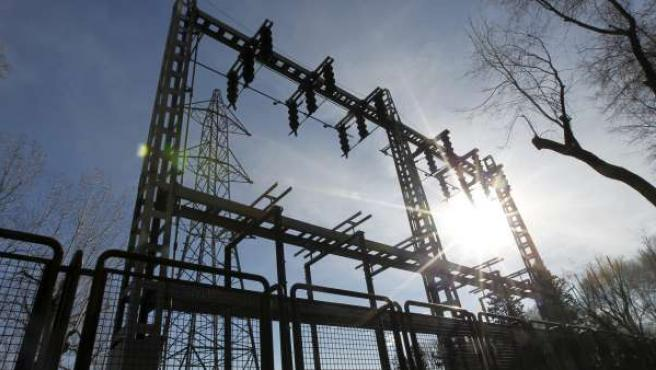 Imagen de una subestación eléctrica en Madrid.