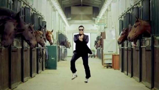 Imagen del videoclip 'Gangnam Style', de Psy.