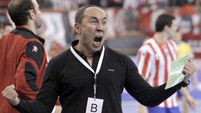 El entrenador del Atlético de Madrid, Talant Dujshebaev, en una imagen de archivo.