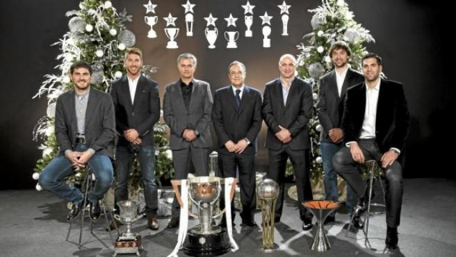 """El Madrid felicita la Navidad: """"Lo mejor de este año han sido los éxitos  deportivos"""""""