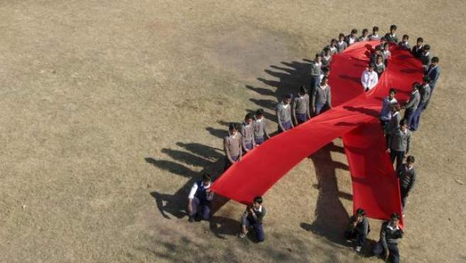 El símbolo de la lucha contra el Sida