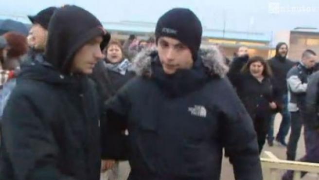 'Alfon', al salir de prisión en enero de 2013.
