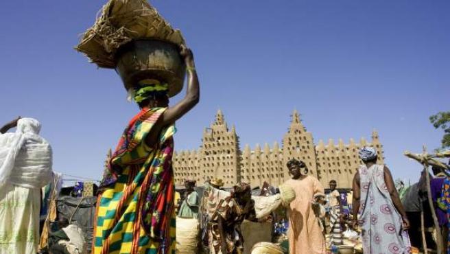 Mujeres en un mercado en Mali.