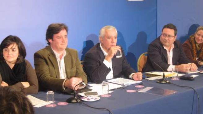 Arenas este sábado antes de intervenir en un acto en Sevilla
